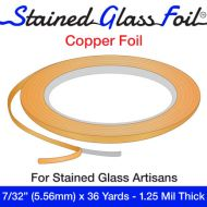 """12569-Stained Glass Foil Copper 7/32"""" 1.25 Mil"""