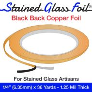 """12582-Stained Glass Foil Black Back 1/4"""" 1.25 Mil"""