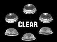 12606-Round Bumpers Clear 100/Pk