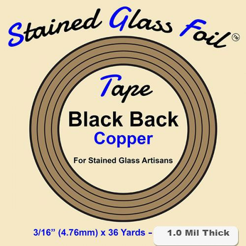 12580-Stained Glass Foil Black Back 3/16