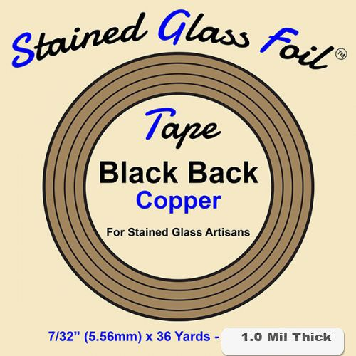 12581-Stained Glass Foil Black Back 7/32