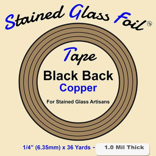 12582-Stained Glass Foil Black Back 1/4