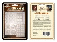12793-Assorted Rubber Adhesive Bumpers Clear 48/Pk
