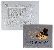 47330-Let it Snow Texture Tile Mold
