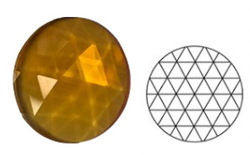 62347-30MM Lt. Amber Round 54 Facets