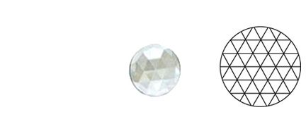 62407-Value 25MM Clear Round 54 Facets