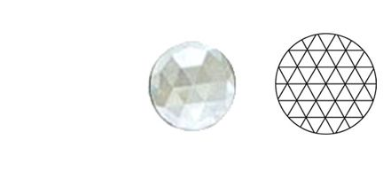 62409-Value 40MM Clear Round 54 Facets