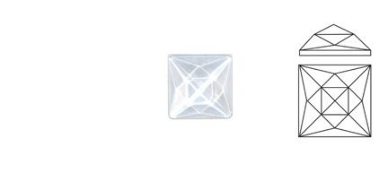 62415-Value 25MM Clear Square 20 Facets