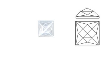 62414-Value 18MM Clear Square (20 Facets)