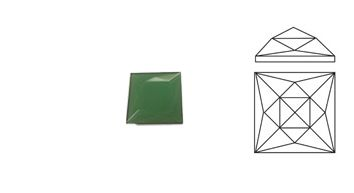 62524-18MM Green Square