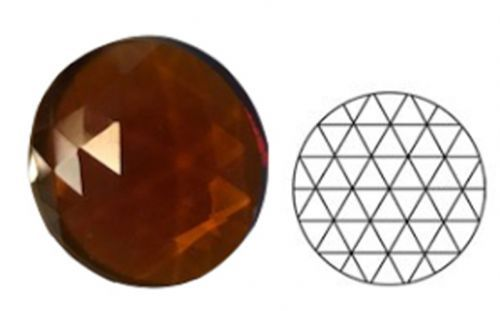 62345-25MM Md. Amber Round 54 Facets