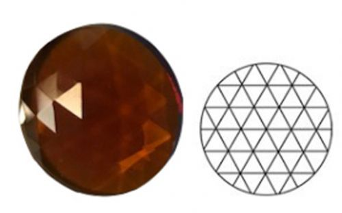 62348-30MM Md. Amber Round 54 Facets