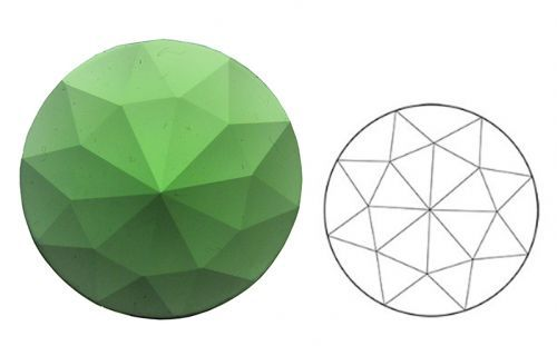 62356-20MM Lt. Green Round 30 Facets