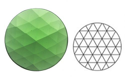 62359-25MM Lt. Green Round 54 Facets