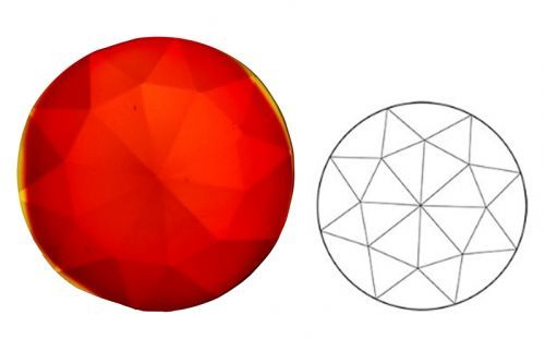 62385-20MM Red Round 30 Facets