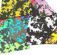 74584-1/2# Dichro. Splatter Scrap 90 CBS Random Sized Pieces