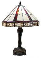 83141-Geometric Pattern Tiffany Stained Glass Shade & Lamp Base