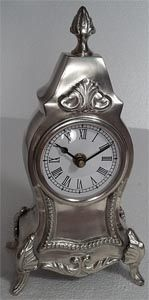 94000-Pewter Clock ---SALE!