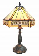 83111-Suvla Pattern Tiffany Stained Glass Shade & Lamp Base